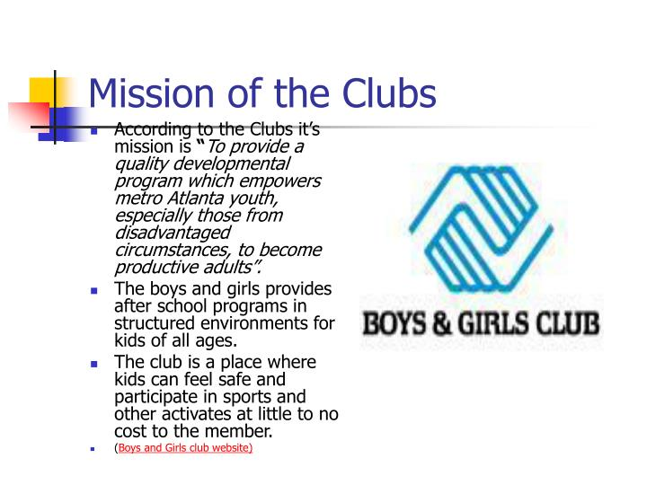 Mission of the clubs