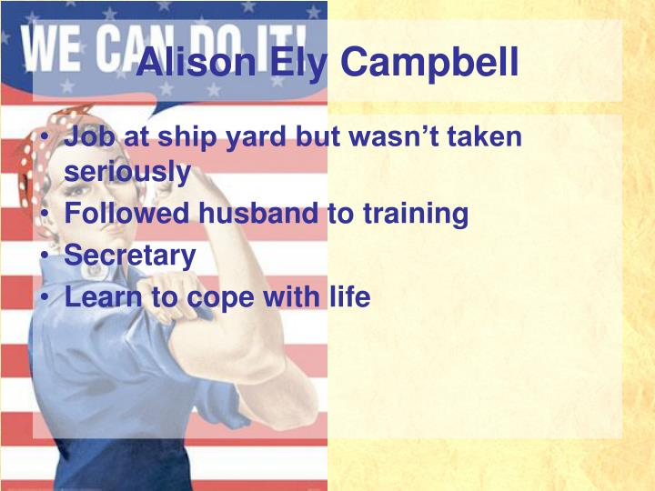 Alison Ely Campbell