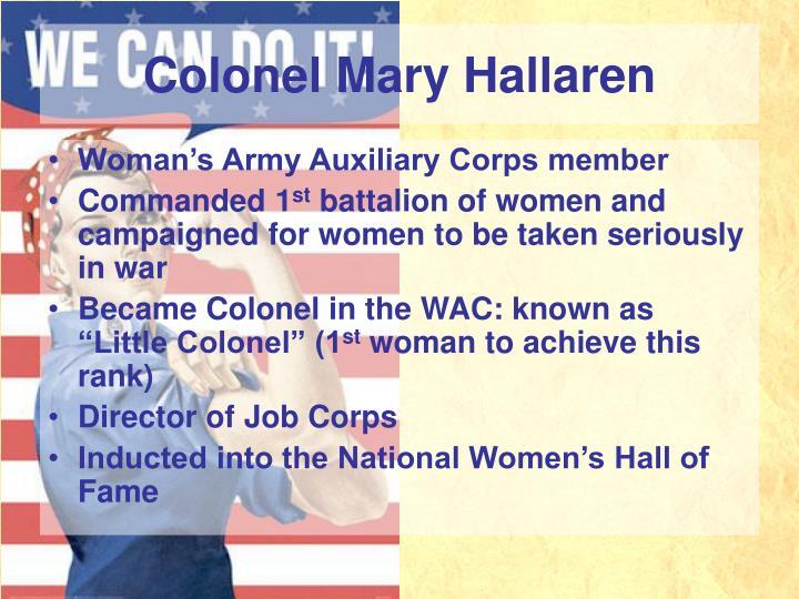 Colonel Mary Hallaren