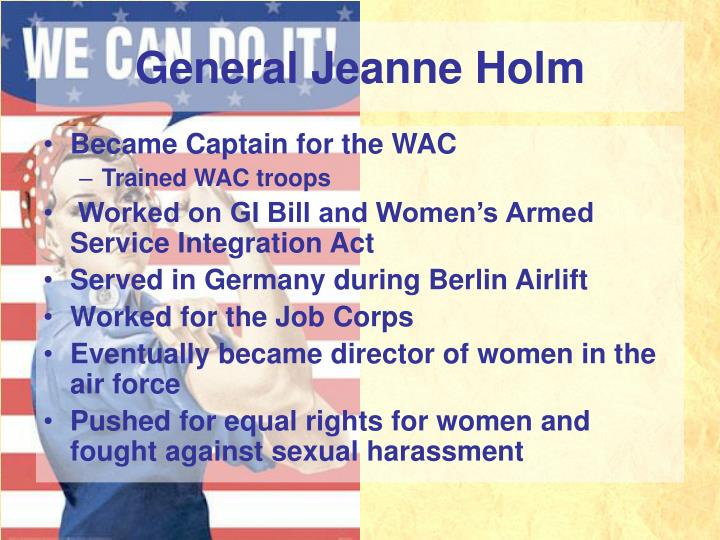 General Jeanne Holm