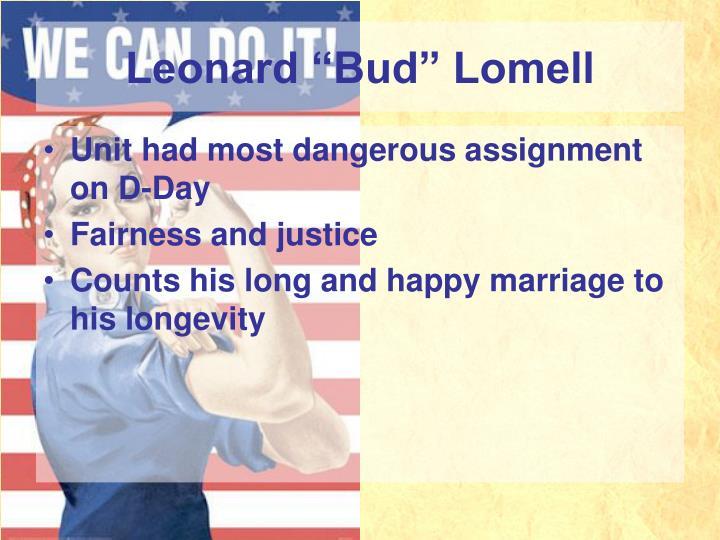 """Leonard """"Bud"""" Lomell"""