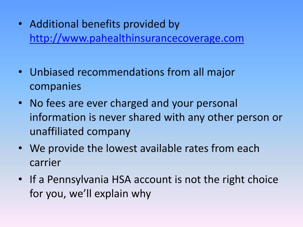 Additional benefits provided