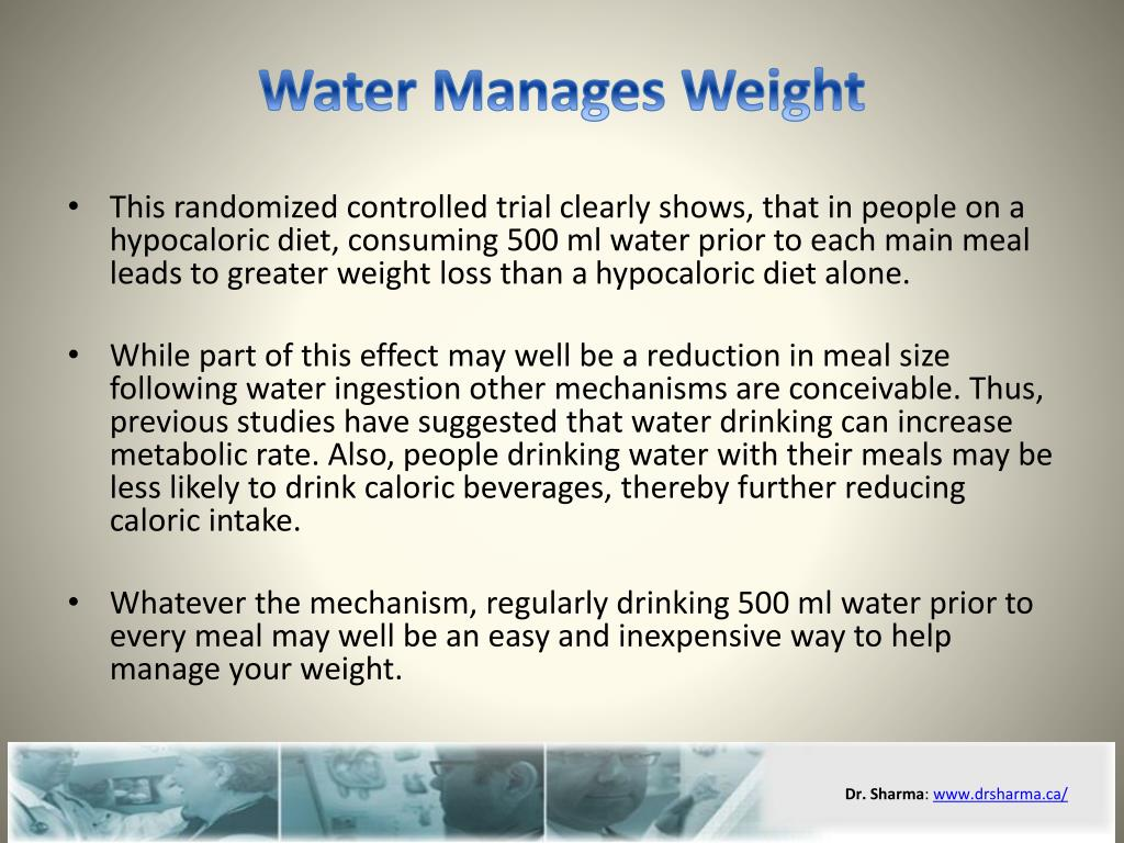 Water Manages Weight