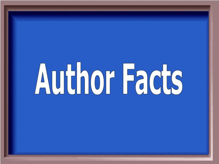 Author Facts