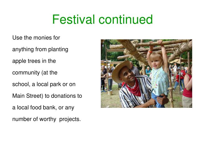 Festival continued