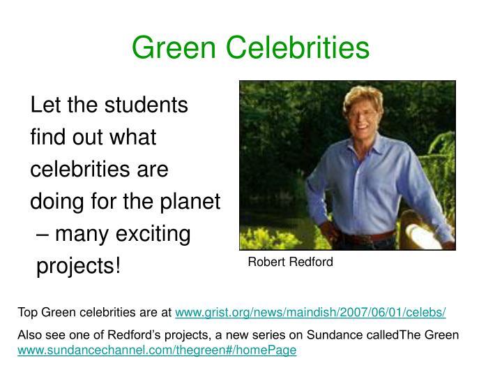 Green Celebrities