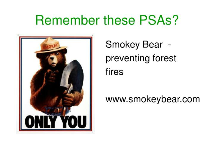 Remember these PSAs?