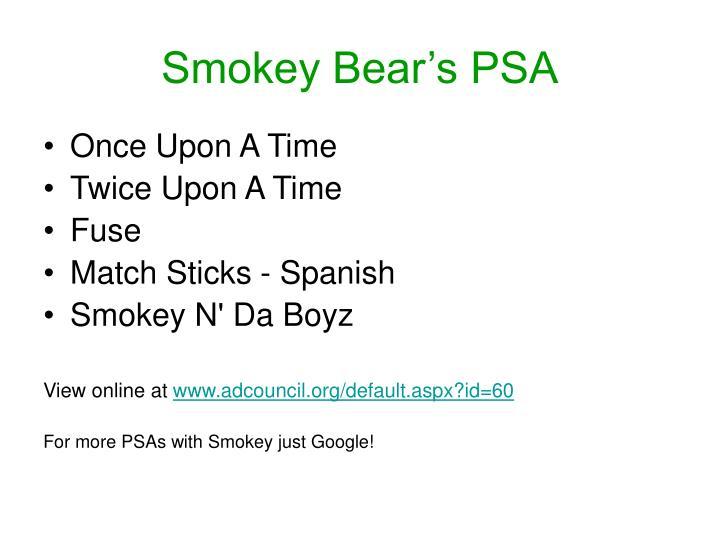 Smokey Bear's PSA