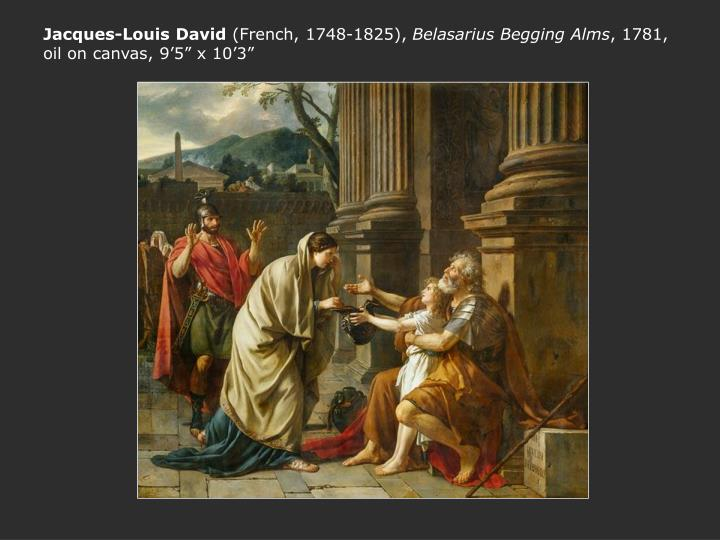 Jacques louis david french 1748 1825 belasarius begging alms 1781 oil on canvas 9 5 x 10 3