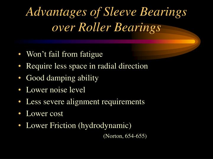 Advantages of Sleeve Bearings over Roller Bearings