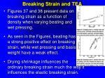breaking strain and tea