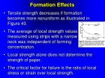 formation effects