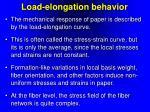 load elongation behavior