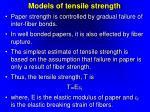 models of tensile strength