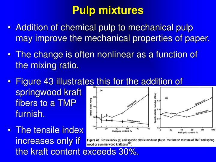 Pulp mixtures