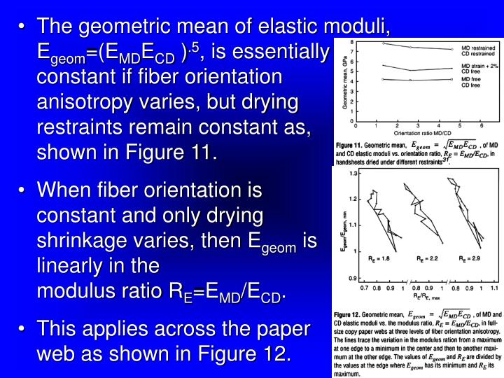 The geometric mean of elastic moduli, E