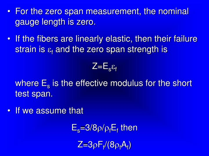 For the zero span measurement, the nominal gauge length is zero.