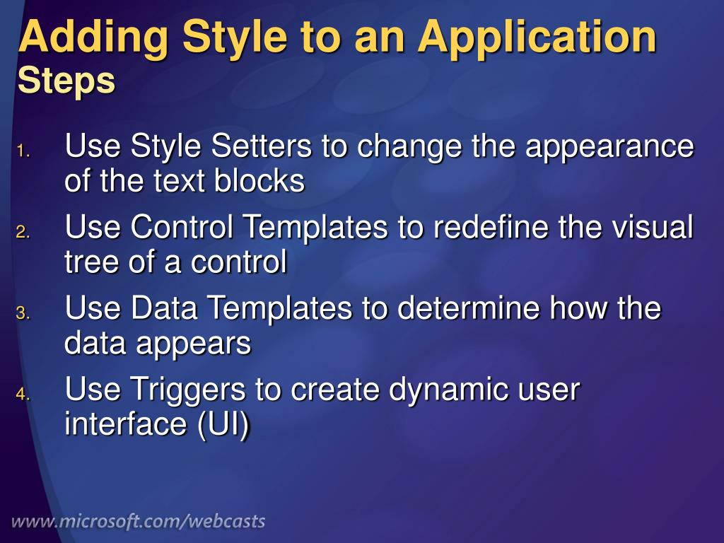 Adding Style to an Application