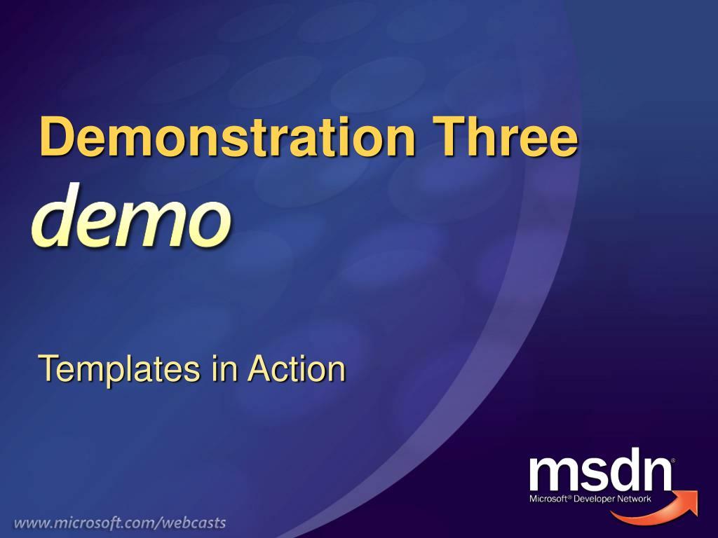 Demonstration Three