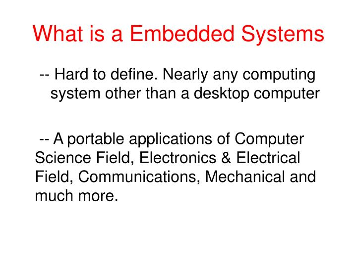 What is a embedded systems