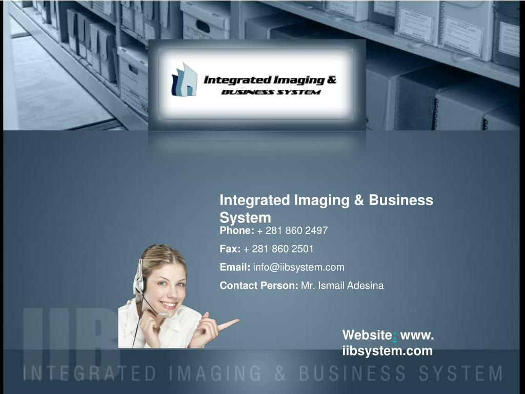 Integrated Imaging & Business System