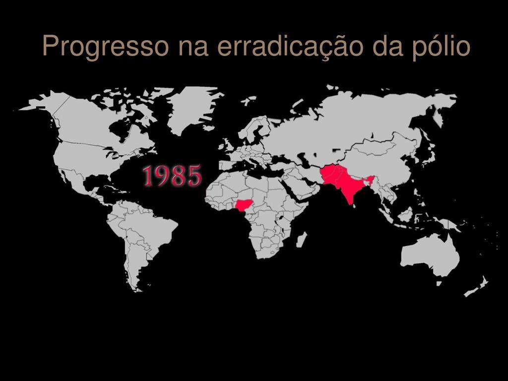 Progresso na erradicação da pólio