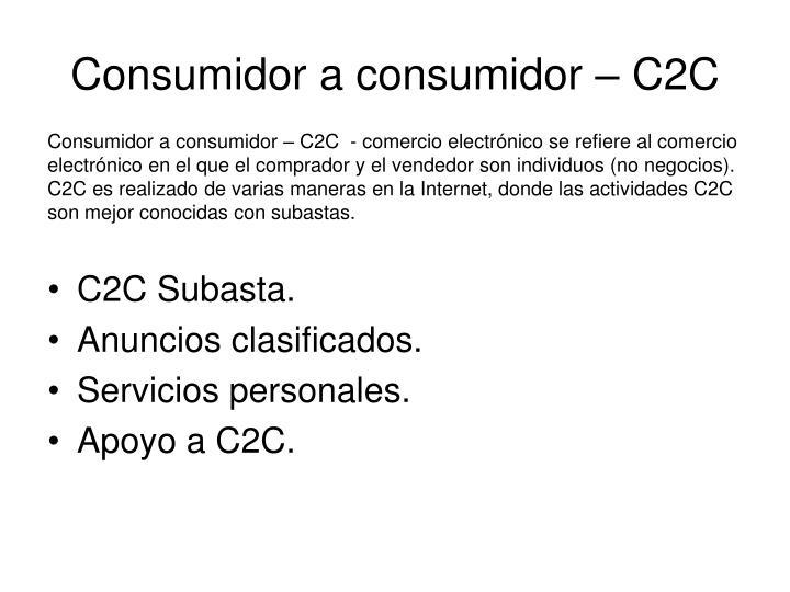Consumidor a consumidor – C2C