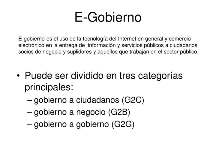 E-Gobierno