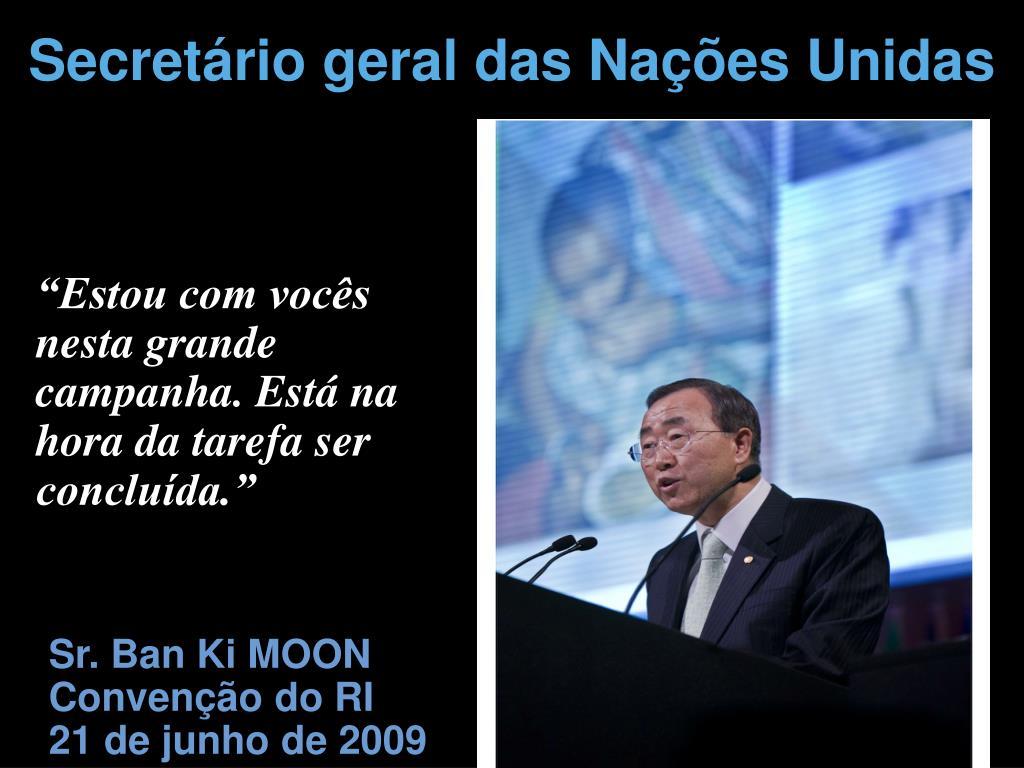Secretário geral das Nações Unidas