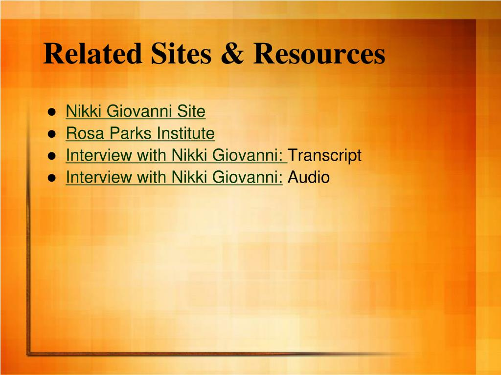 Related Sites & Resources