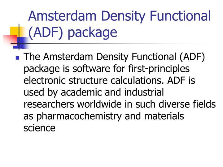 Amsterdam Density Functional (ADF) package