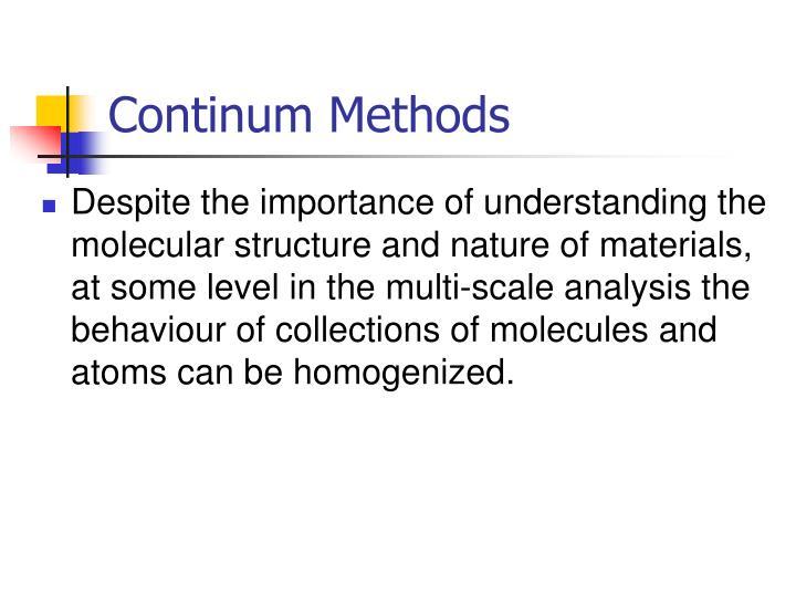 Continum Methods