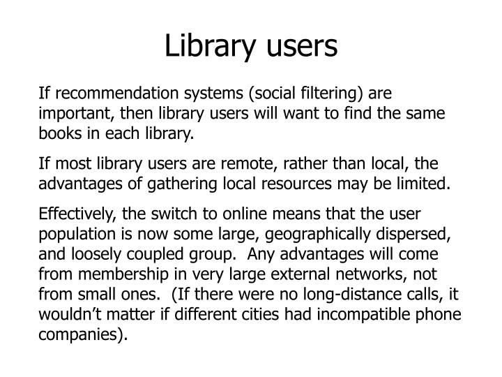 Library users