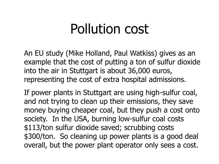Pollution cost
