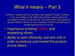 what it means part 3