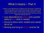 what it means part 4