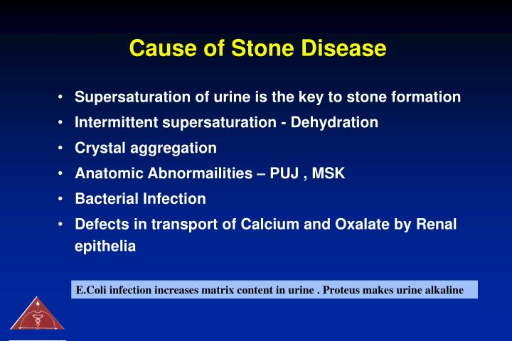 Cause of stone disease