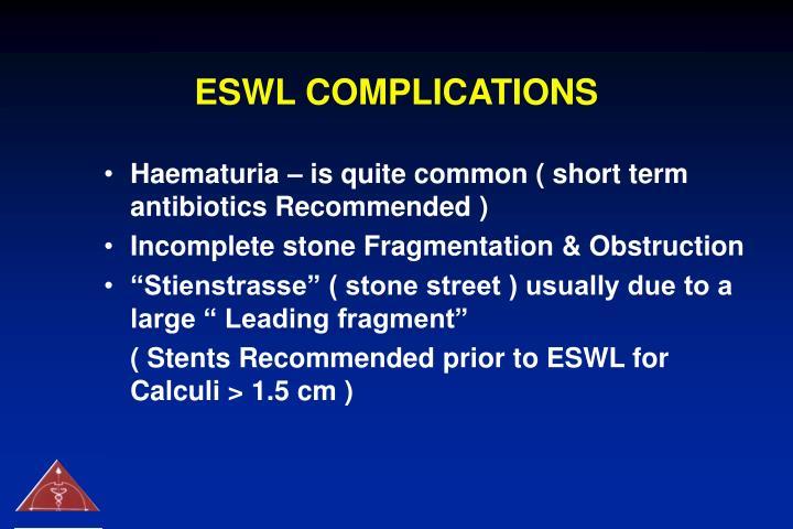 ESWL COMPLICATIONS