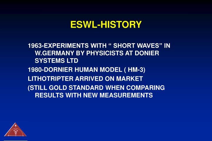 ESWL-HISTORY