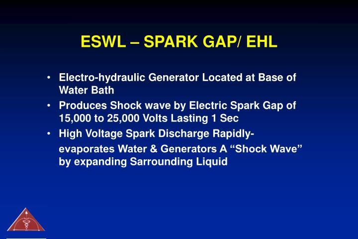 ESWL – SPARK GAP/ EHL