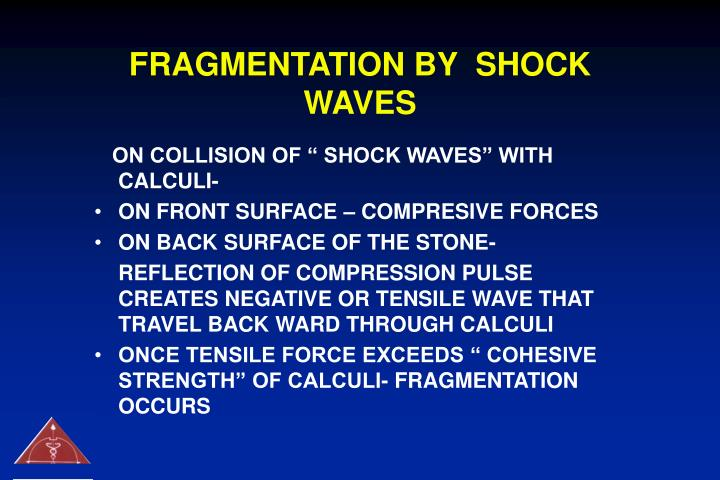 FRAGMENTATION BY  SHOCK WAVES