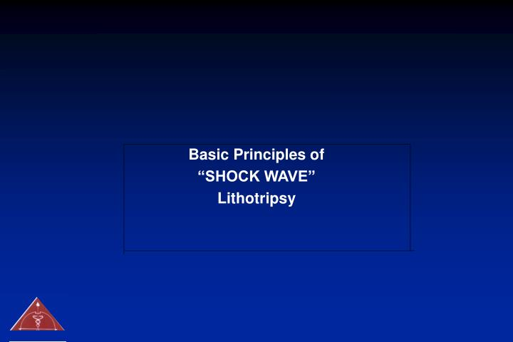 Basic Principles of
