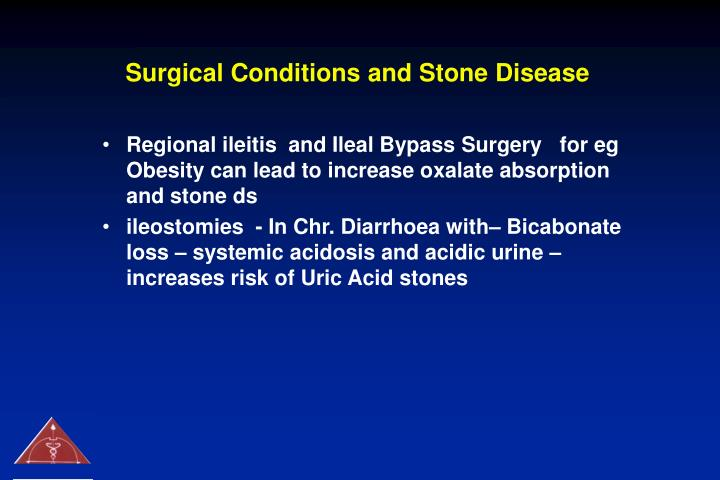 Surgical Conditions and Stone Disease