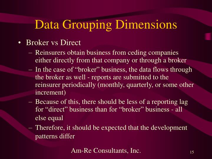 Data Grouping Dimensions