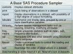 a base sas procedure sampler