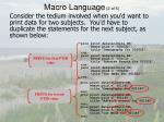 macro language 2 of 5