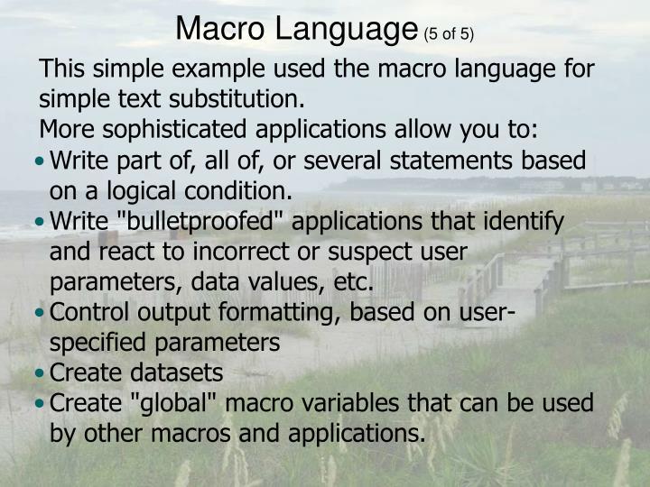 Macro Language