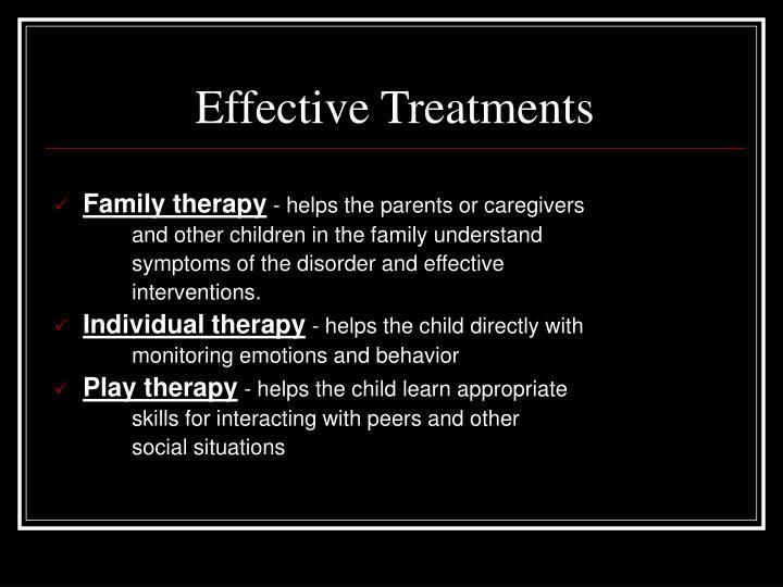 Effective Treatments