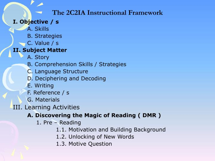 The 2C2IA Instructional Framework