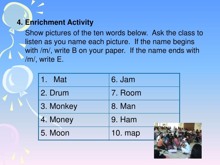 4. Enrichment Activity